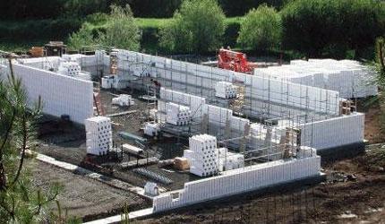 Concrete buildings commercial construction concrete for Icf concrete roof
